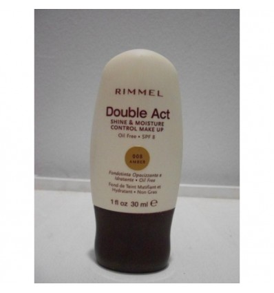 Rimmel Double Act Shine & Moisture Control Make Up n 008 Amber 30ml