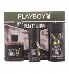 PLAYBOY PLAY IT WILD EDT 100 ml SPRAY + DEO SPRAY 150 ml + GEL&CHP 250 ml MEN