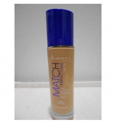 Rimmel Match Perfection Light perfection dadiance foundation Spf 18 N 200 Soft Beige 30ml
