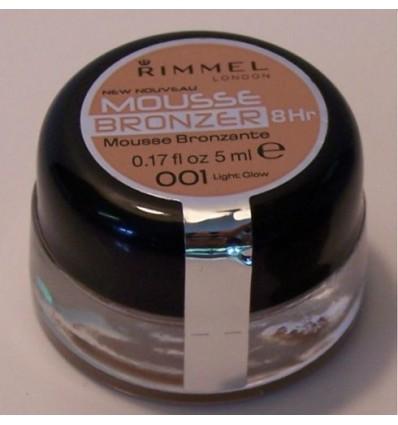 RIMMEL MOUSSE BRONZER 8H Nº 001 LIGHT GLOW