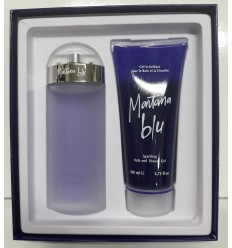 MONTANA BLU EDT 100 ML SPRAY + GEL 200 ML WOMAN