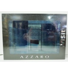 AZZARO VISIT FOR MEN EDT 100 ML SPRAY + AFTHER SHAVE LOTION 75 ML + EDT 7 ML