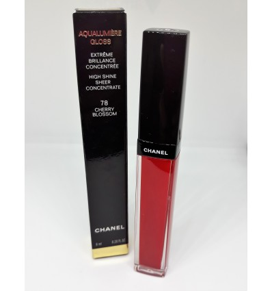 CHANEL AQUALUMIERE GLOSS 78 CHERRY BLOSSOM