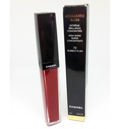 CHANEL AQUALUMIERE GLOSS 72 BUBBLE PLUM