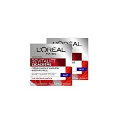 L 'Oréal Paris Revitalift cicacrème crème-masque Antiedad/reparadora noche –PACK 2 UNIDADES