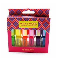 MAX & MORE 6 MINI ESMALTES DE UÑAS 3,5 ml