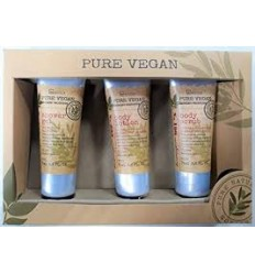 IDC Pure Vegan Olive Pack Gel 75 ml + Loción Corporal 75 ml + Exfoliante Corporal 75 ml