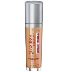 RIMMEL LASTING FINISH BREATHABLE SPF 20 502 NOISETTE 30 ML MAQUILLAJE FLUIDO